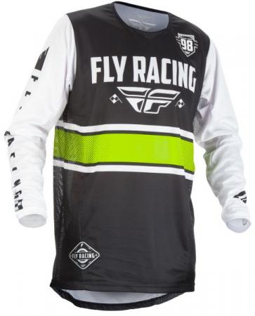 Tricou ciclism FLY KINETIC culoare negru/alb, marime L