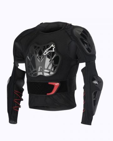 Tricou cu protectie ALPINESTARS MX BIONIC TECH Geaca culoare negru/rosu/alb, marime S