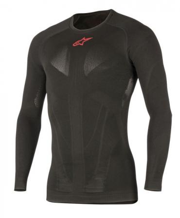 Tricou termoactiv ALPINESTARS MX TECH culoare negru/rosu, marime L/M maneca lunga