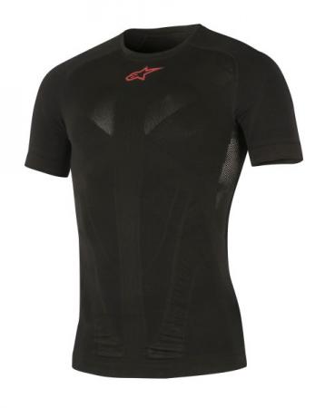 Tricou termoactiv ALPINESTARS MX TECH culoare negru/rosu, marime L/M maneca scurta