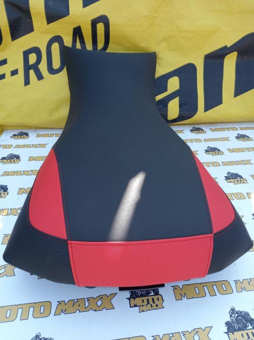Material șa Outlander G2 negru-roșu [0]