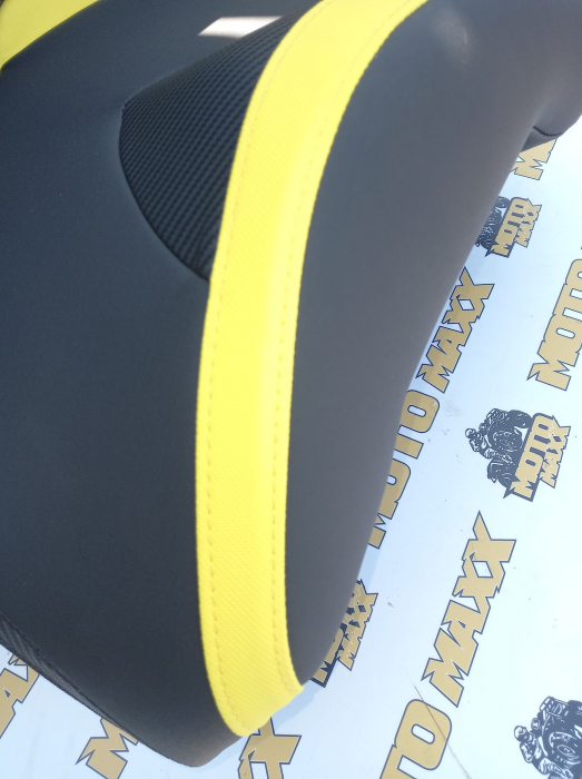 Material scaun Outlander G2 negru/galben 2