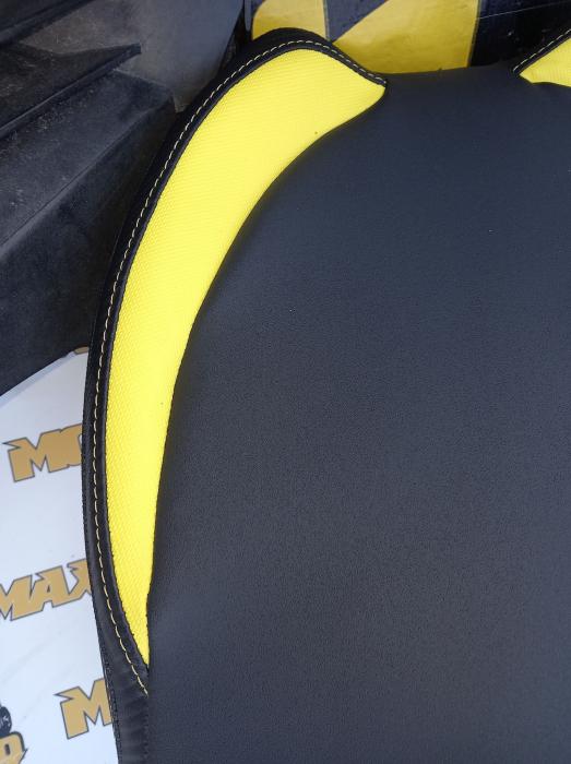 Material scaun Outlander G2 negru/galben 3