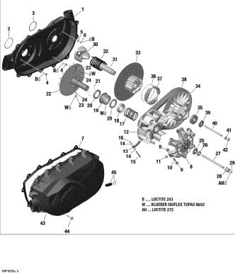 Fulie Variator Secundar G2 1000 R [8]