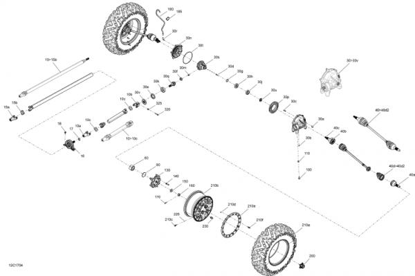 Cap Planetara - Roata - Fata - Maverik X3 5