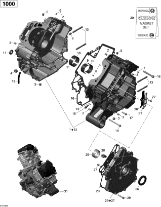 Garnitura Bloc Motor 1
