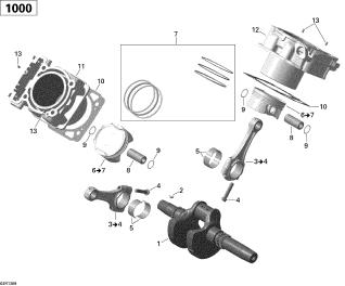 Piston 800 G1 - G2 3