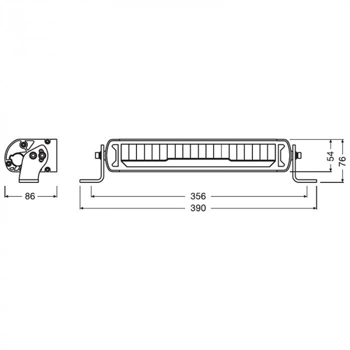 PROIECTOR Bara LED Osram MX250-CB Combo [5]