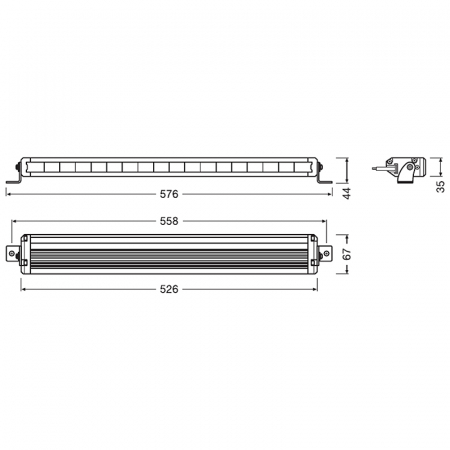 PROIECTOR Bara LED Osram VX500-SP Spot [2]