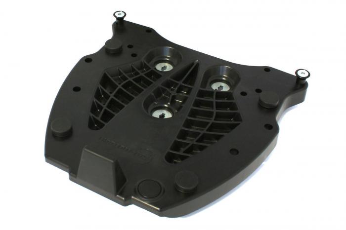 Placa Adaptoare Pentru ALU-RACK Pentru Hepco & Becker. Quick-Lock function. Negru [0]