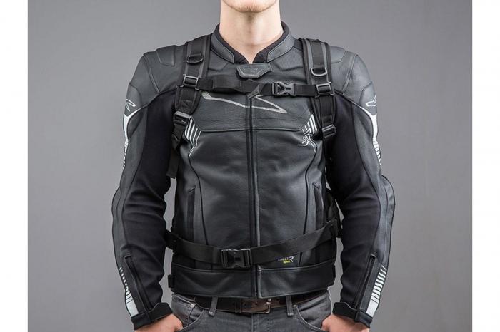 Backpack Triton Tarpaulin. Impermeabil. Gri/Negru 20 l. 3
