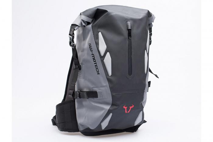 Backpack Triton Tarpaulin. Impermeabil. Gri/Negru 20 l. 0