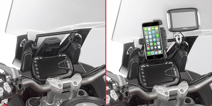 Bara transversala pentru suport Telefon / Navigatie Ducati Multistrada Enduro 1200 2016-2017 0