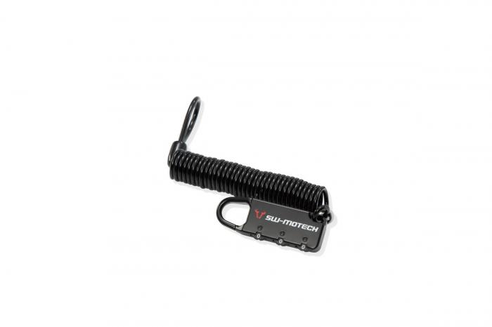 Cablu antifurt Bagaje negru lacat cu cifru. 180 cm. 0