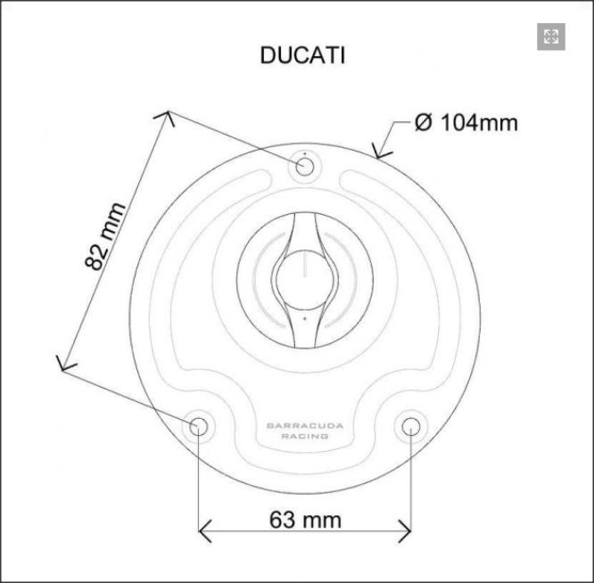 Capac rezervor combustibil DUCATI 1