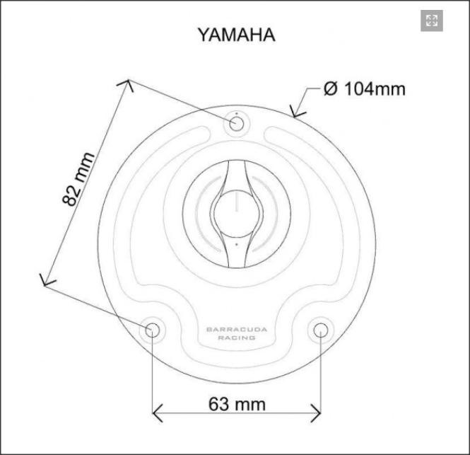 Capac rezervor combustibil YAMAHA 2