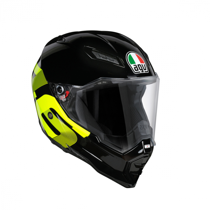 Casca AGV AX-8 EVO NAKED E2205 TOP - IDENTITY BLACK/YELLOW 0