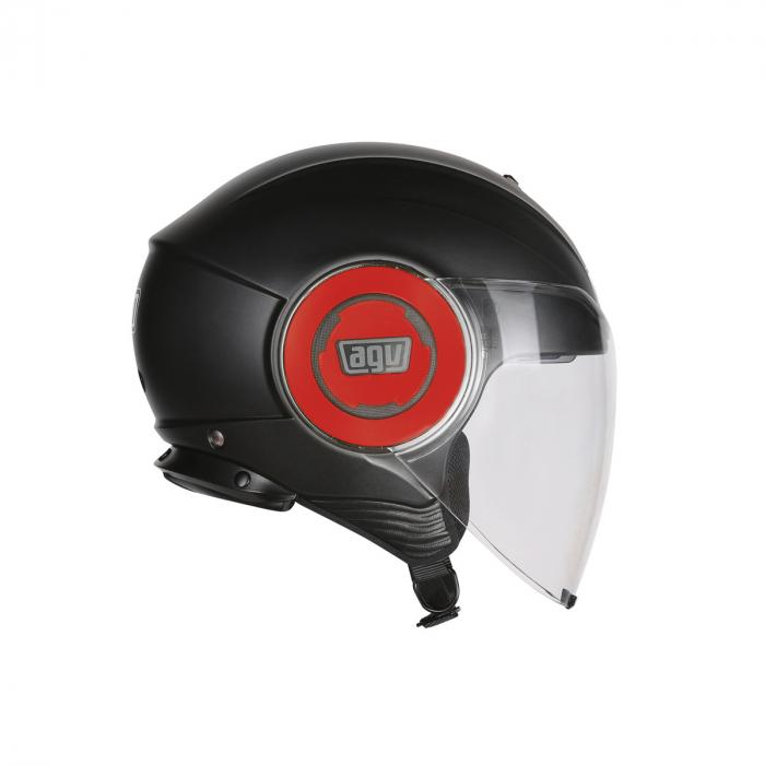 Casca AGV FLUID E2205 MONO - MATT BLACK/RED 1