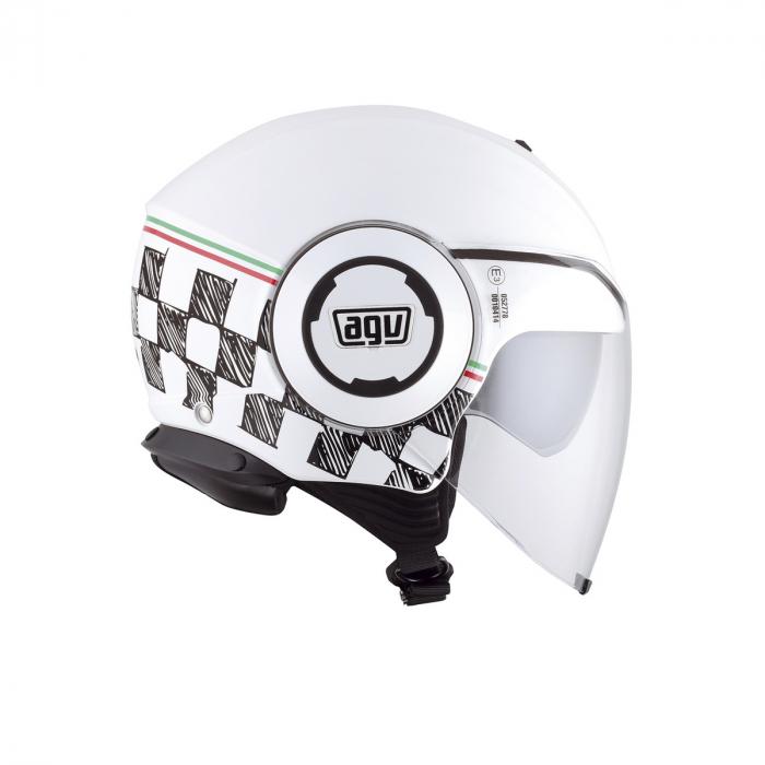 Casca AGV FLUID E2205 MULTI - GARDA WHITE/ITALY 1
