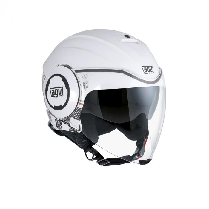 Casca AGV FLUID E2205 MULTI - GARDA WHITE/ITALY 0