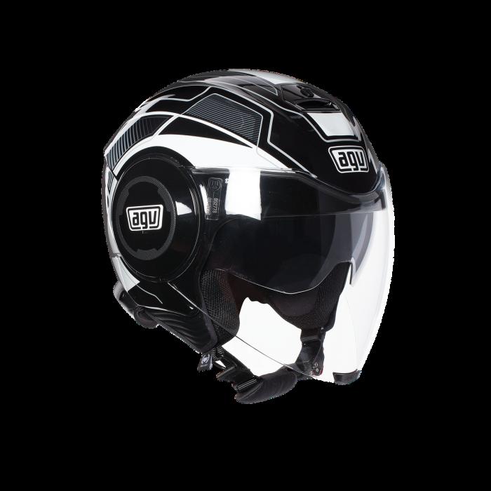 Casca AGV FLUID E2205 MULTI - SOHO BLACK/WHITE 0