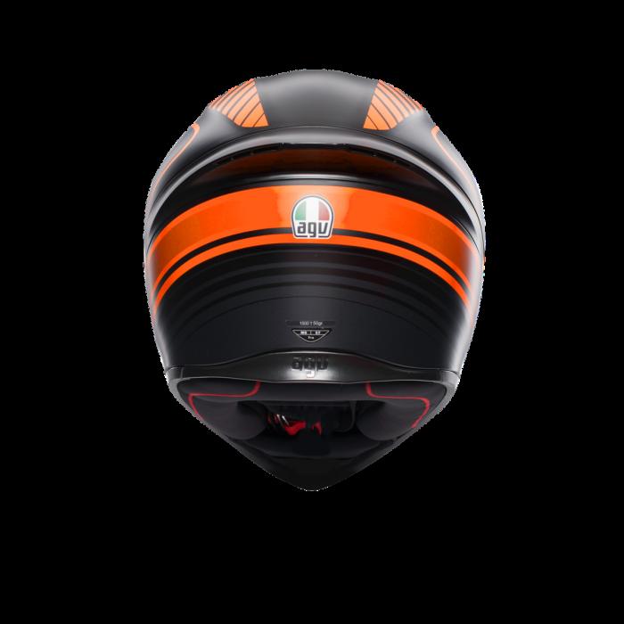 Casca AGV K1 MULTI ECE2205 - WARMUP MATT BLACK/ORANGE 3