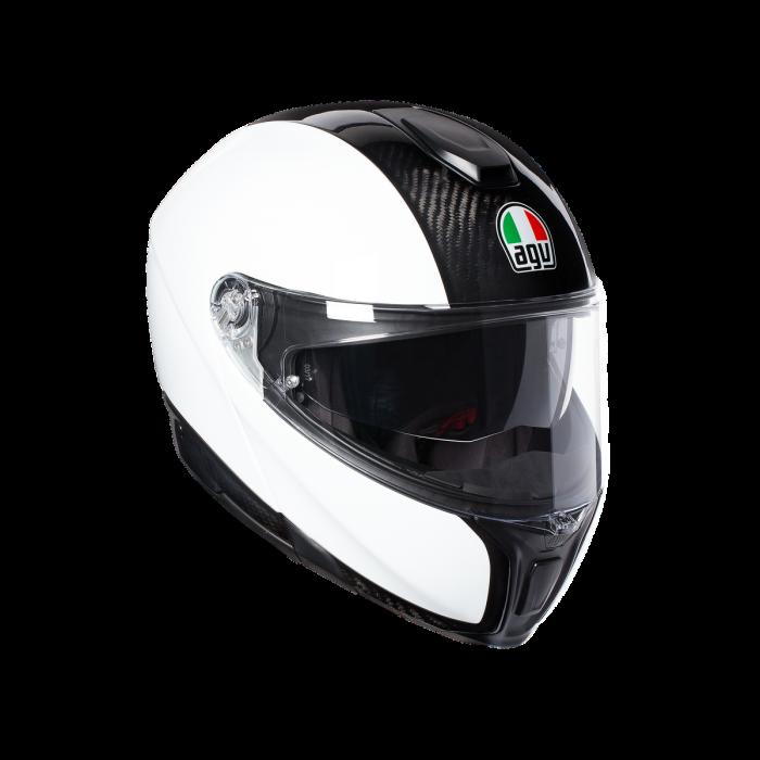 Casca AGV SPORTMODULAR MONO E2205 - CARBON/WHITE 0