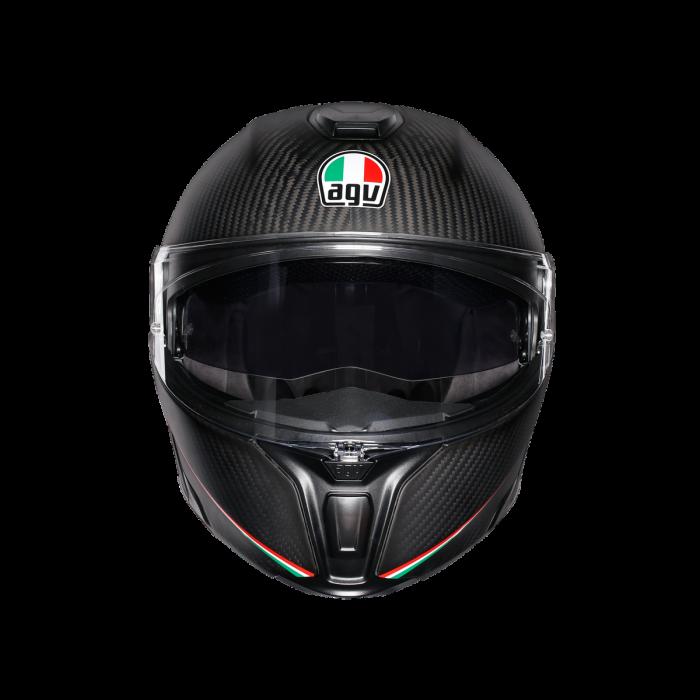 Casca AGV SPORTMODULAR MULTI E2205 - TRICOLORE MATT CARBON/ITALY 1