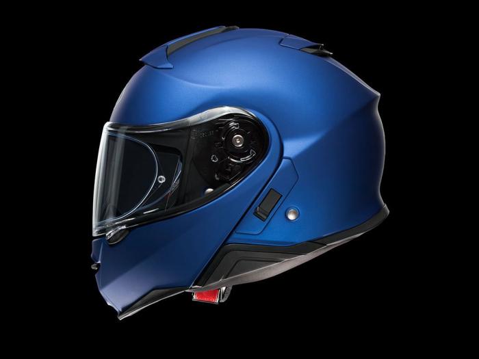 CASCA SHOEI Neotec-II matt blue met. 6