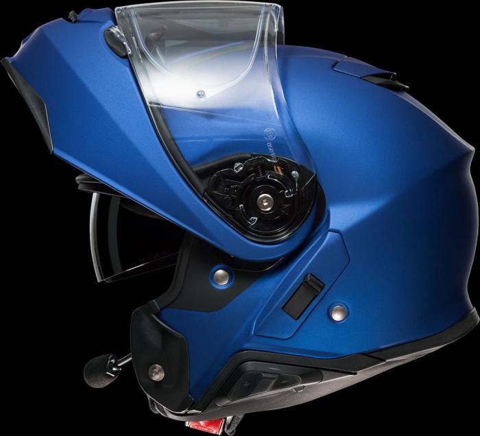 CASCA SHOEI Neotec-II matt blue met. 8