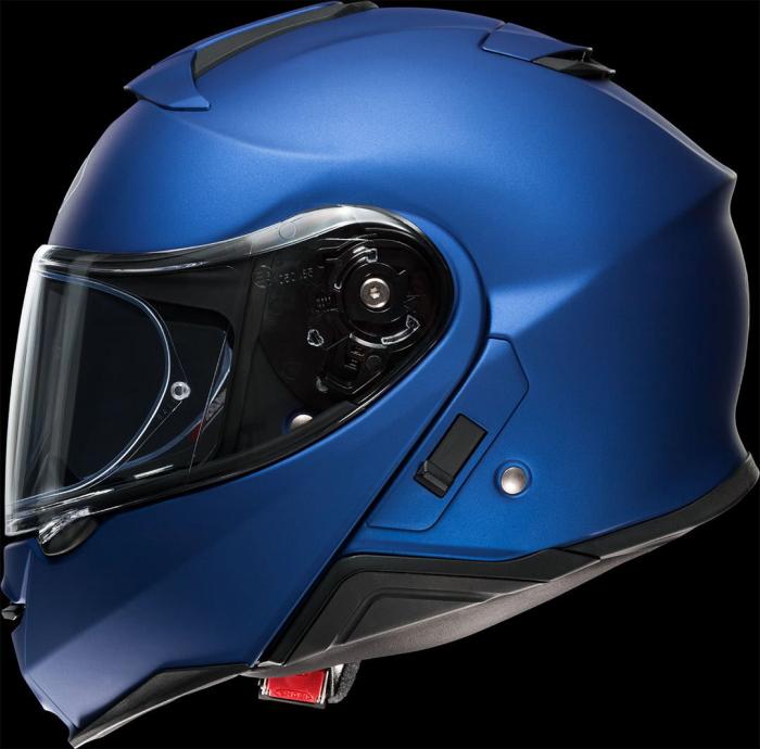 CASCA SHOEI Neotec-II matt blue met. 7