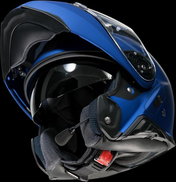 CASCA SHOEI Neotec-II matt blue met. 1