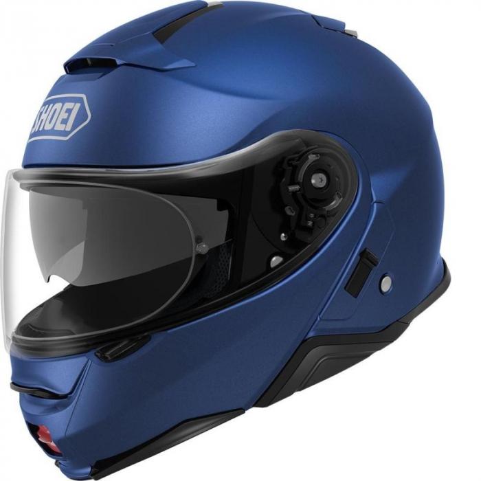 CASCA SHOEI Neotec-II matt blue met. 0