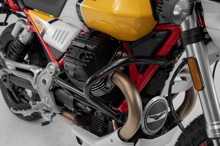 Crash bar negru Moto Guzzi V85 TT (19-). [0]