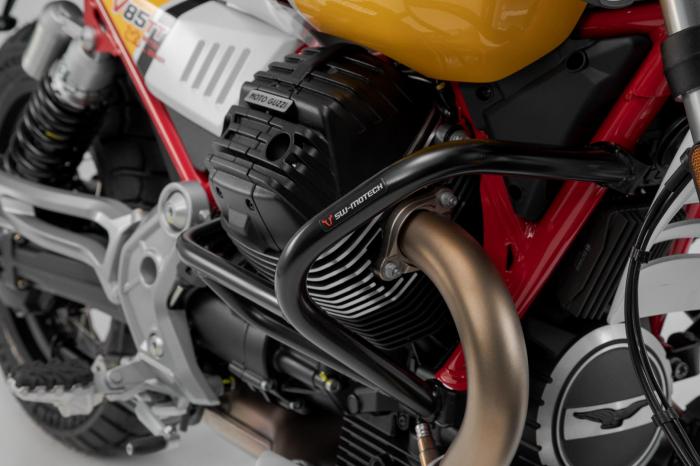 Crash bar negru Moto Guzzi V85 TT (19-). [1]