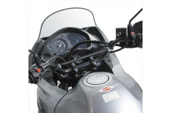 Crossbar montaj navigatie negru D.12mm pentru ghidon 22mm [0]