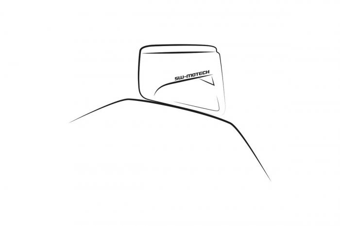 Geanta Rezervor Evo Enduro LT cu curele de fixare 5-7.5 l  Negru /Gri. 1