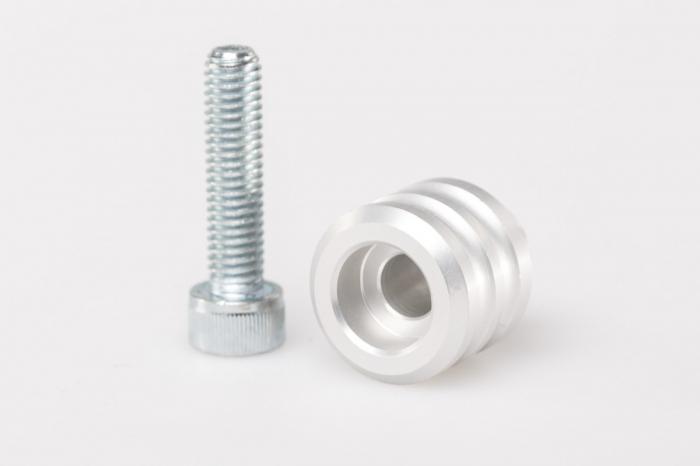 Extensie schimbator vitee cu 15 mm extensie. Aluminiu. Argintiu Universal. [0]