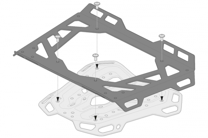 Extensie suport bagaje pentru Adventure-RACK si Street-Rack 45x30 cm. Quick-Lock. Aluminium. Negru 1