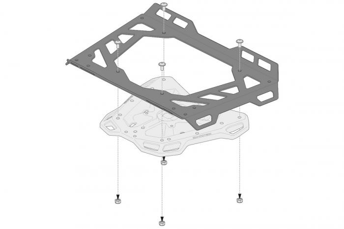 Extensie suport bagaje pentru Adventure-RACK si Street-Rack 45x30 cm. Quick-Lock. Aluminium. Negru 2