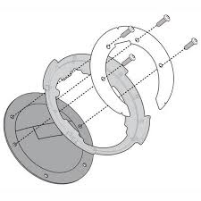 Flansa metalica pentru fixare gentuta rezervor GIVI-BF04 1