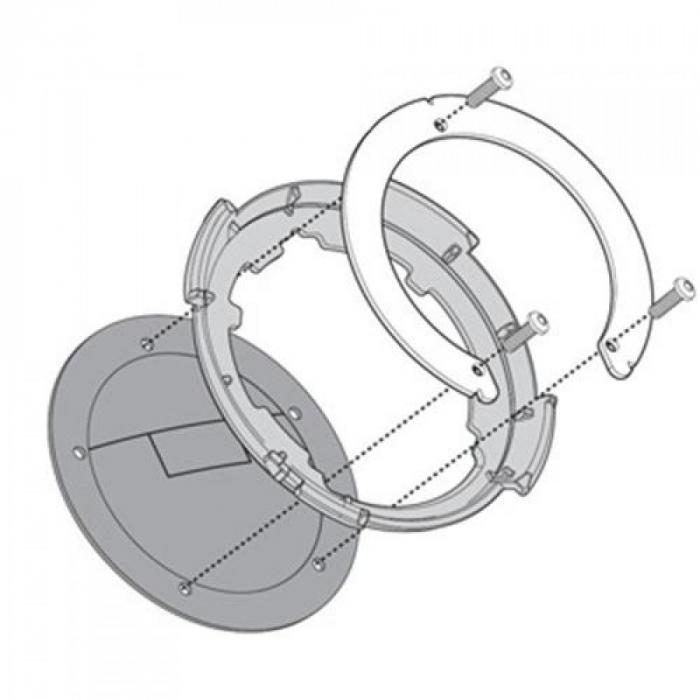 Flansa metalica pentru fixare gentuta rezervor GIVI-BF09 1