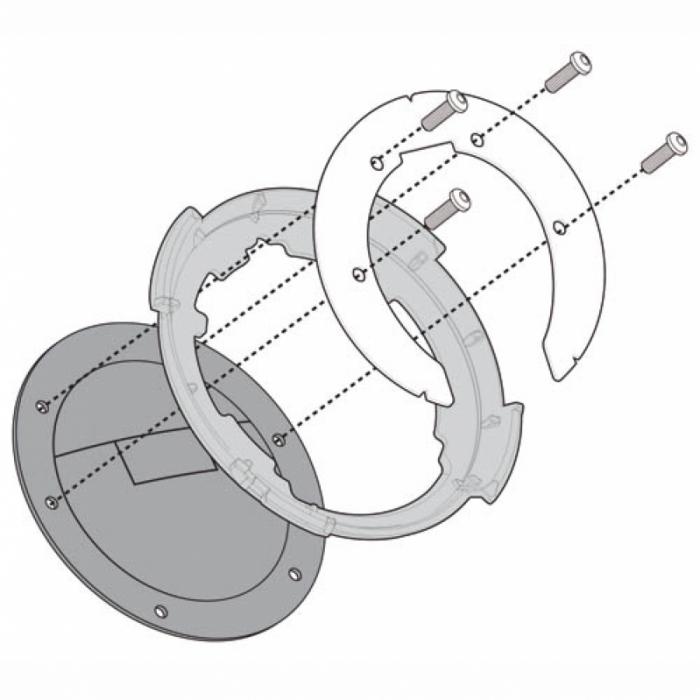 Flansa metalica pentru fixare gentuta rezervor GIVI-BF10 1