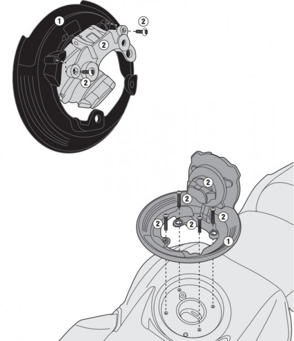 Flansa metalica pentru fixare gentuta rezervor GIVI-BF28 [0]