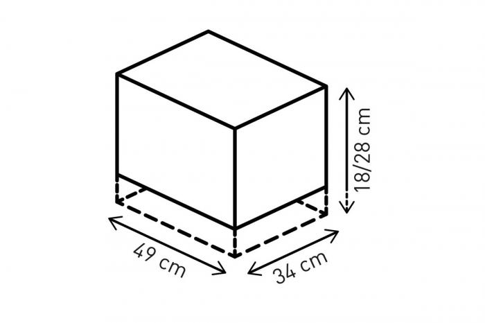 Jetpack tail bag 20-33 l. Ballistic Nylon. negru /Gri. 2
