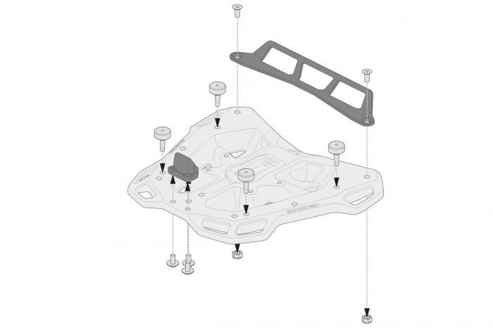 Kit adaptor pentru placa Top Case ADV Top-Rack negru pentru Givi Monolock [2]