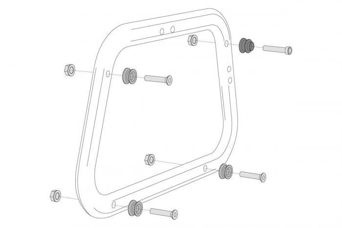 Kit adaptor pentru suport Side Case Evo AERO. In pairs. [0]
