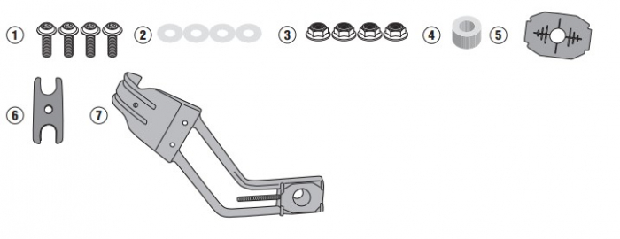 Suport Aparatoare Noroi Honda CB500X 16-18 RM02 [0]