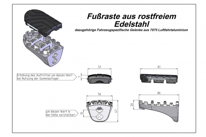 Kit scarite ION pentru Honda XRV 650/750 (87-03) XL600V (87-96) CRF1000L.Argintiu [0]