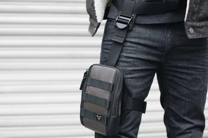 Legend Gear geanta picior LA8 1.25 l. negru/Maro pentru holster LA7. 1